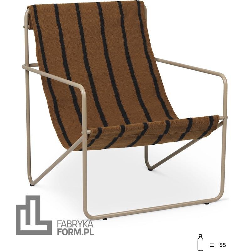 Krzesło Desert beżowa rama Stripes