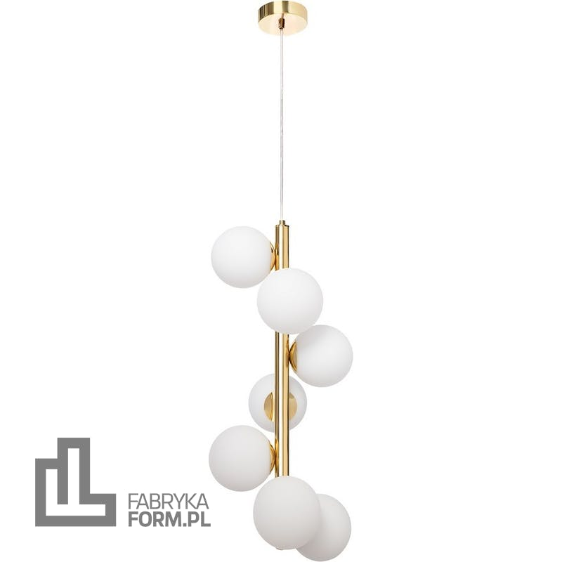 Lampa wisząca Cumulus Vertical 160 cm złota