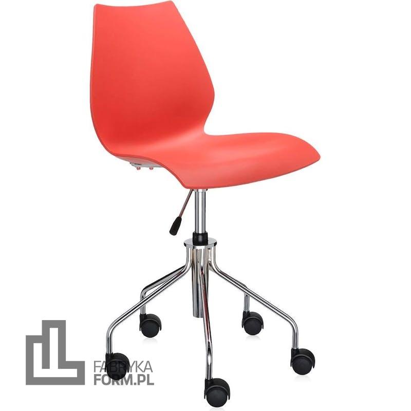 Krzesło na kółkach Maui Swivel czerwone