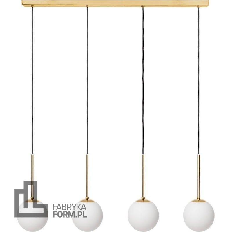 Lampa wisząca Lamia 4 złota z czarnym przewodem
