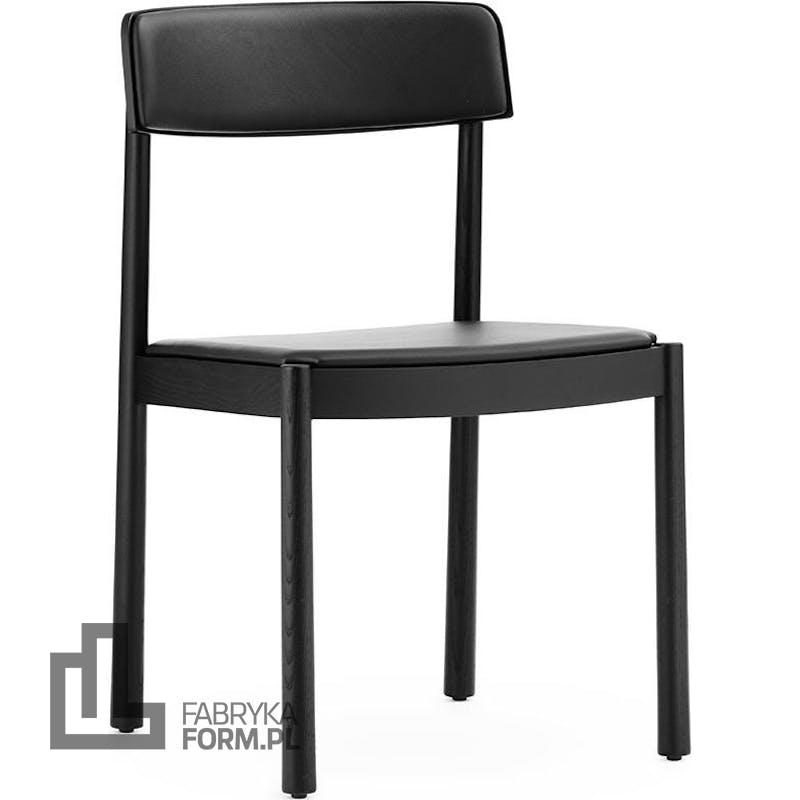 Krzesło Timb czarne tapicerowane