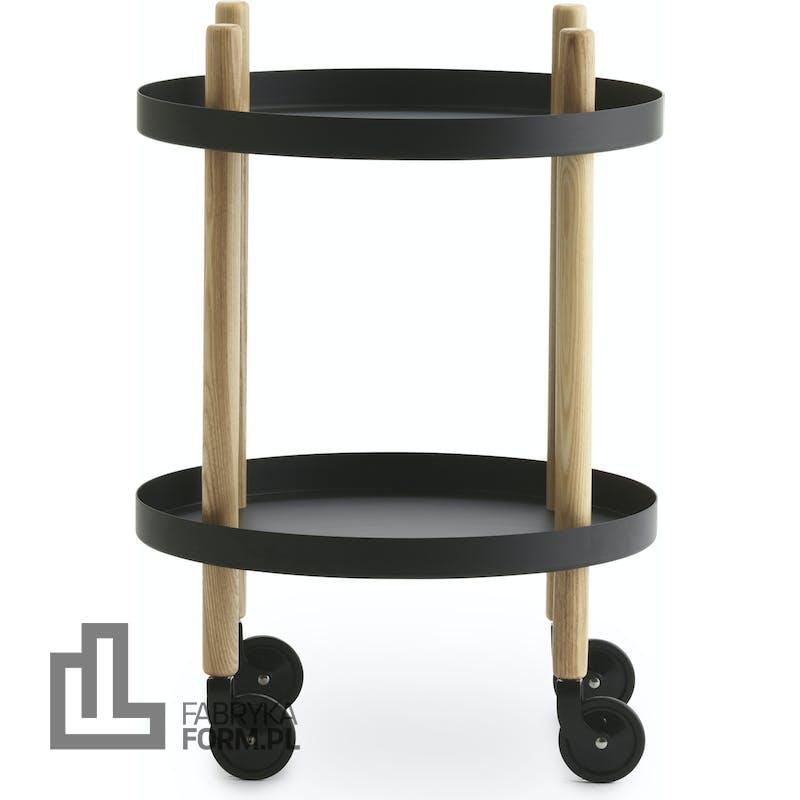 Stolik Block okrągły czarny