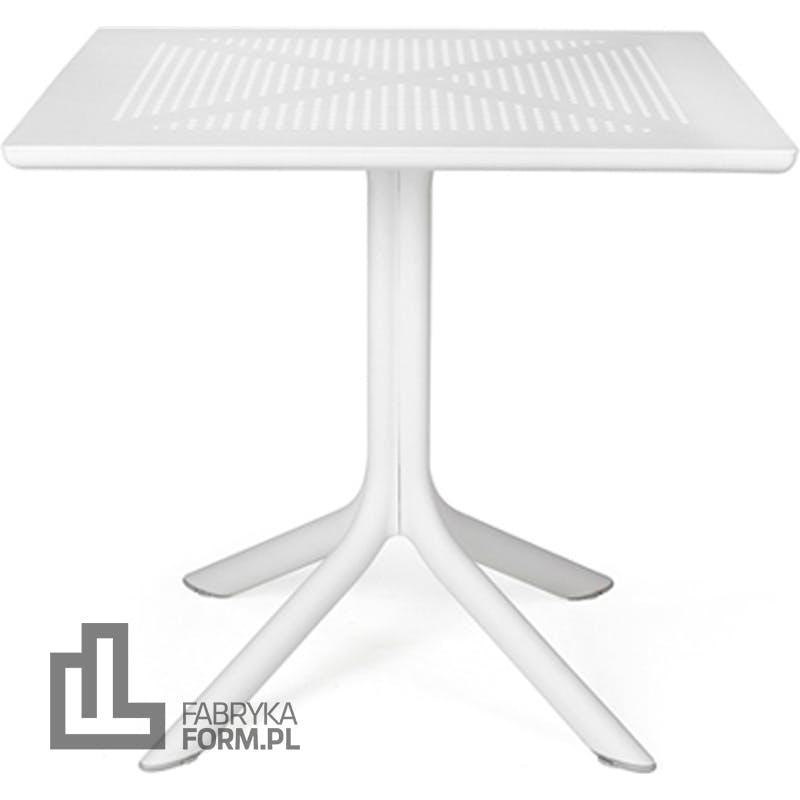 Stolik ogrodowy Clip 80 x 80 cm biały