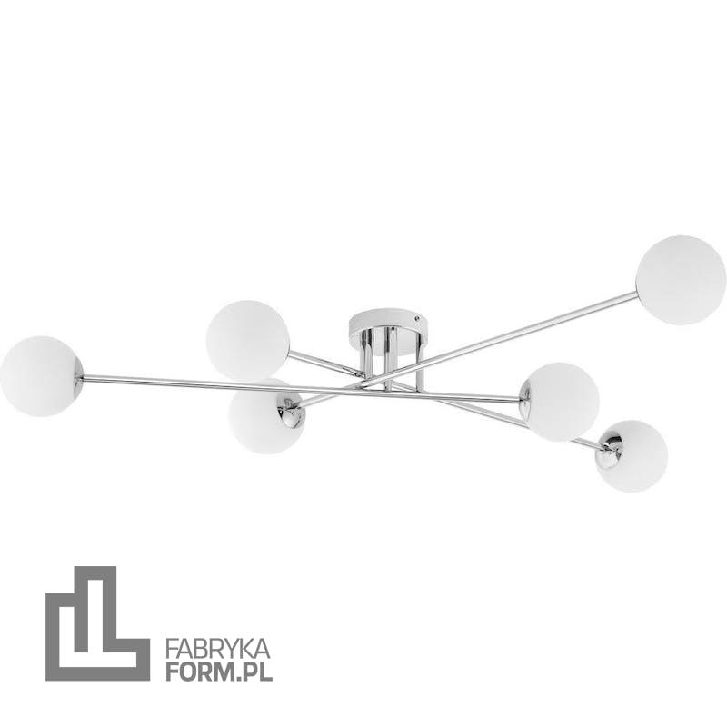 Lampa sufitowa Astra 6 srebrna