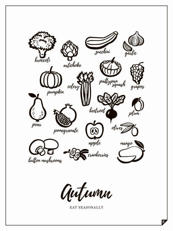 Plakat Autumn - Eat Seasonally 21 X 30 cm - 49484