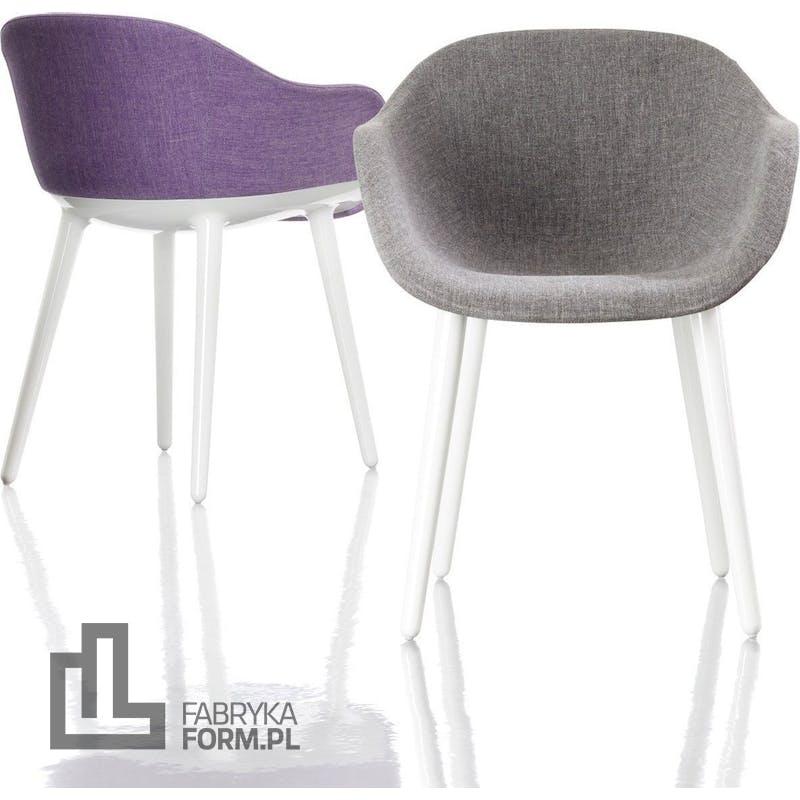 Krzesło Cyborg Lady rama biała siedzisko szare