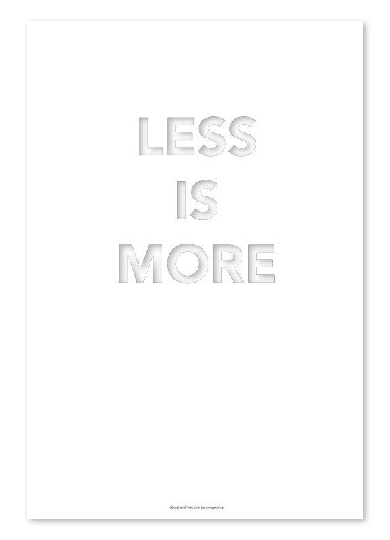 Plakat Less is More 30 x 40 cm - 44046