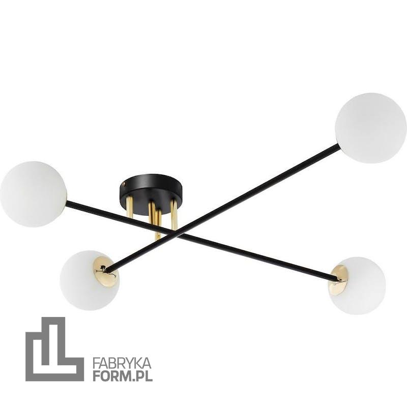 Lampa sufitowa Astra 4 czarno-złota