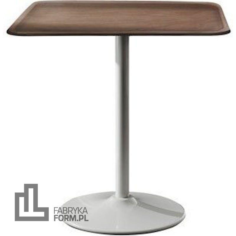 Stół Pipe kwadratowy noga biała blat jasny