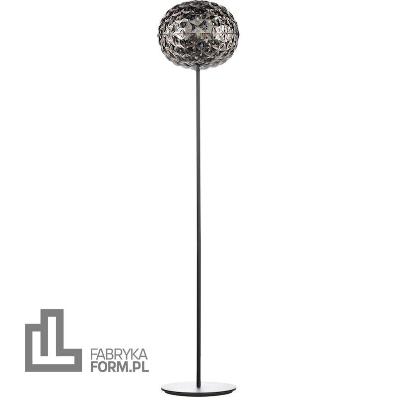 Lampa stojąca Planet 160 cm przydymiona