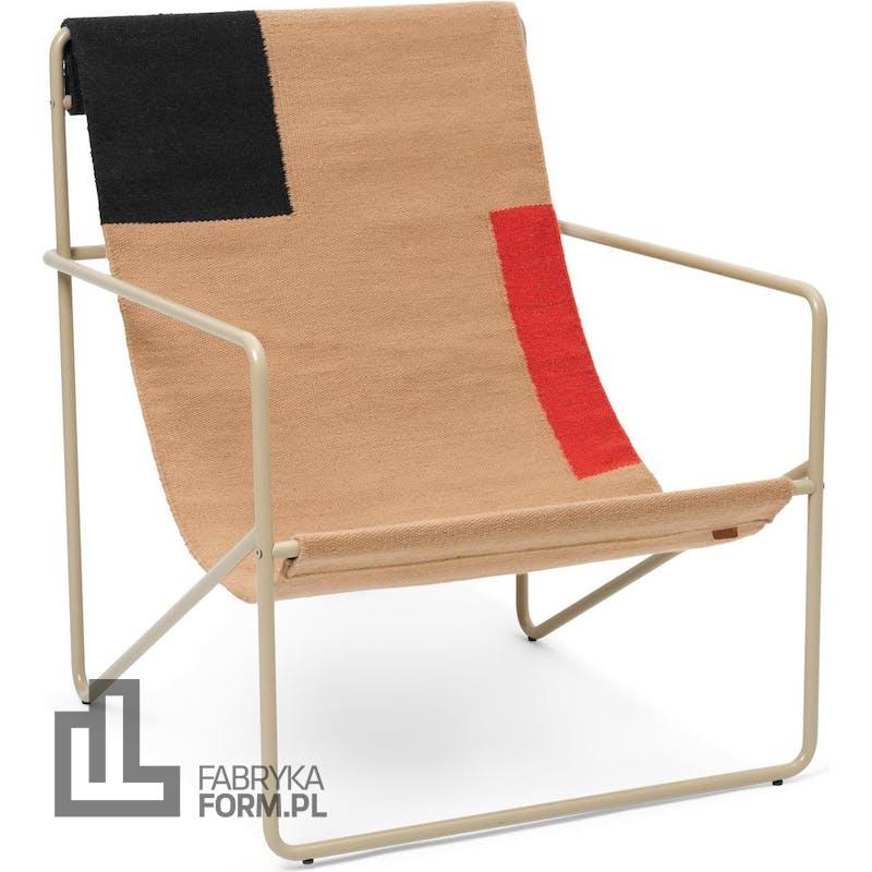 Krzesło Desert Block beżowa rama