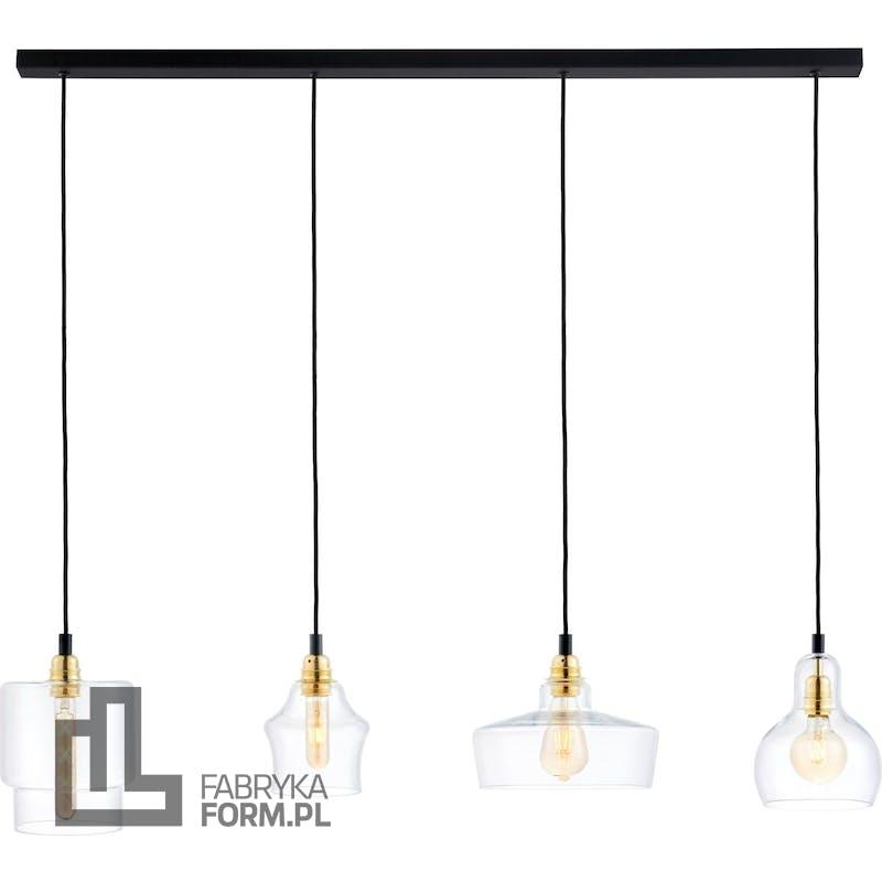 Lampa wisząca listwa Longis 4 czarno-złota
