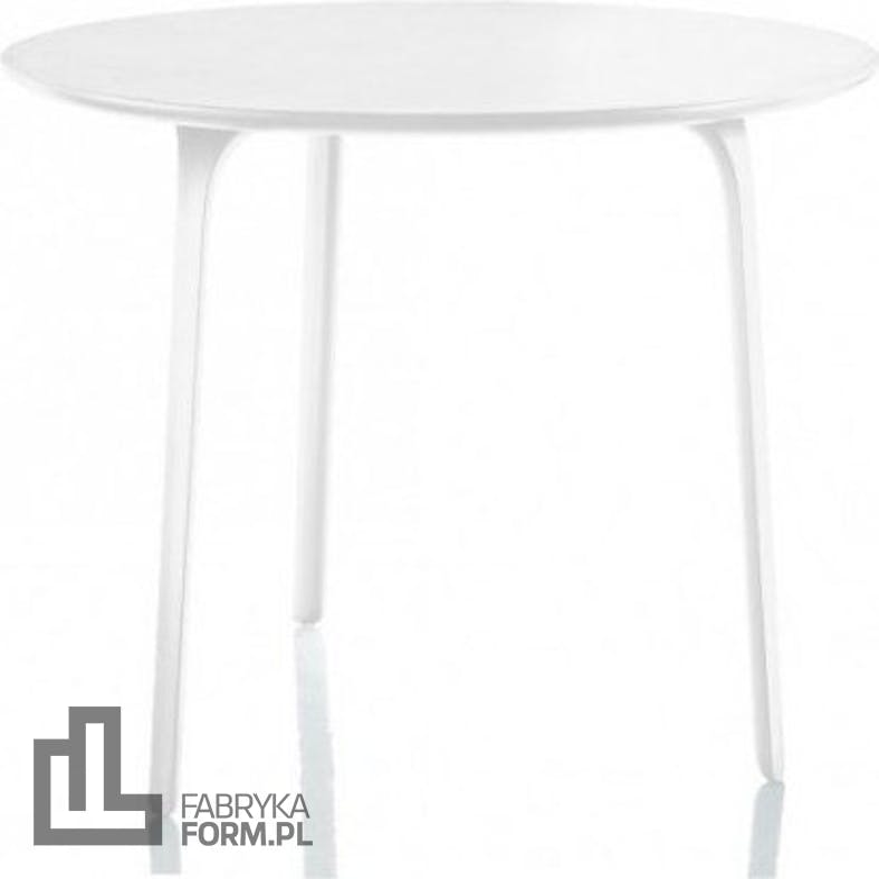 Stół First okrągły 80 cm biały