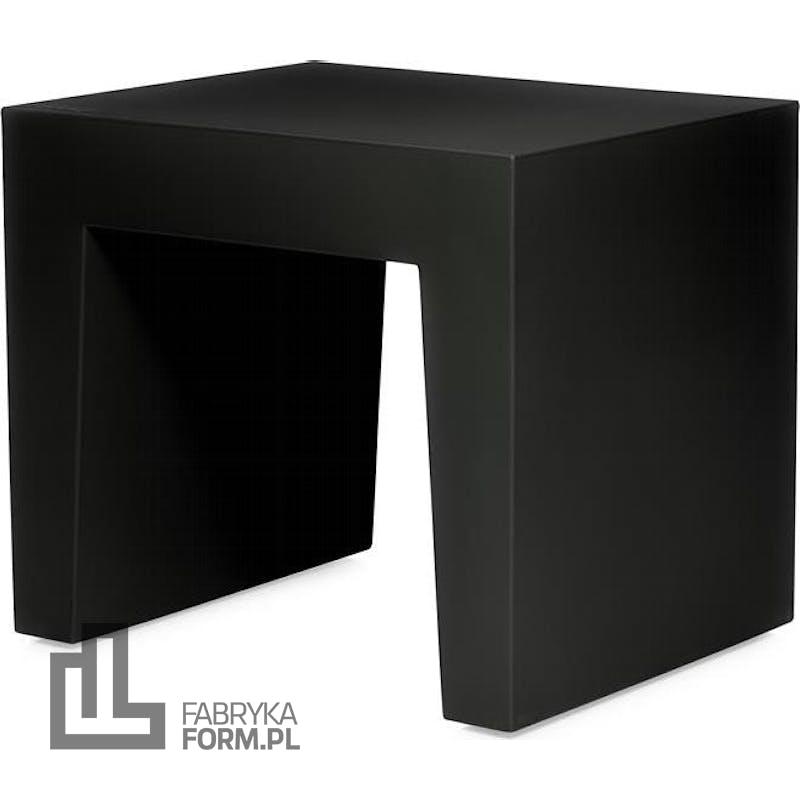 Stołek Concrete Seat czarny z recyklingu
