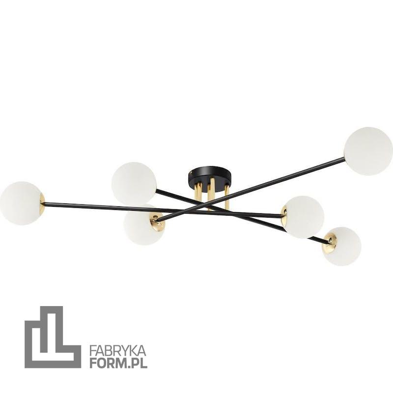 Lampa sufitowa Astra 6 czarno-złota