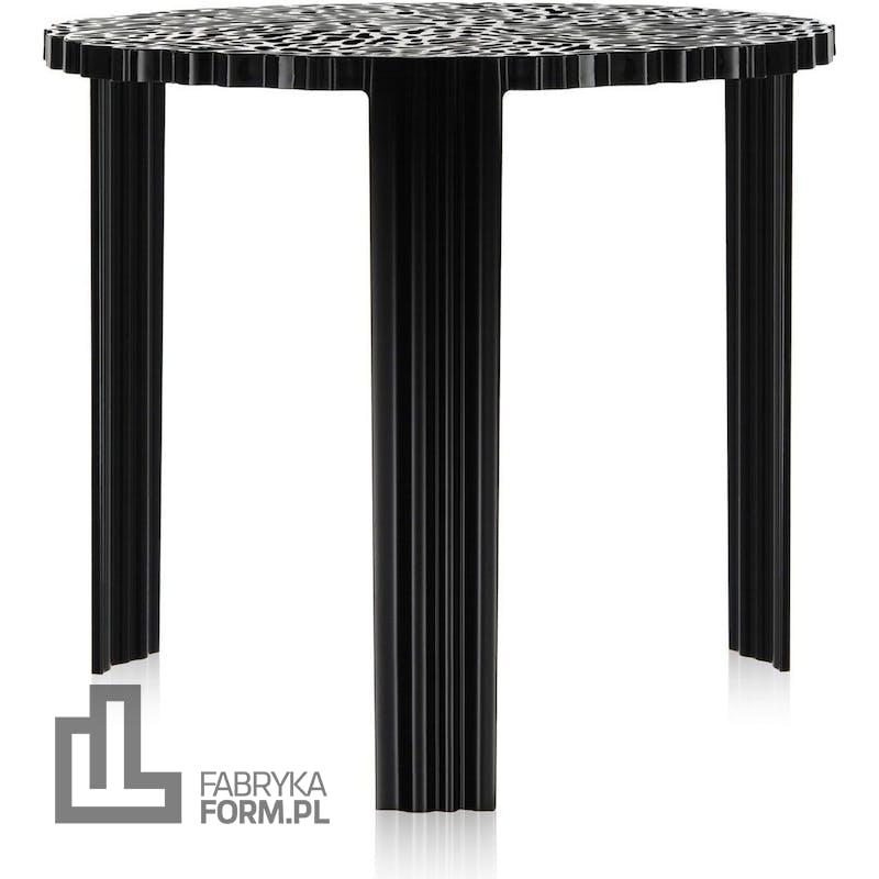 Stolik T-Table 44 cm czarny nieprzezroczysty