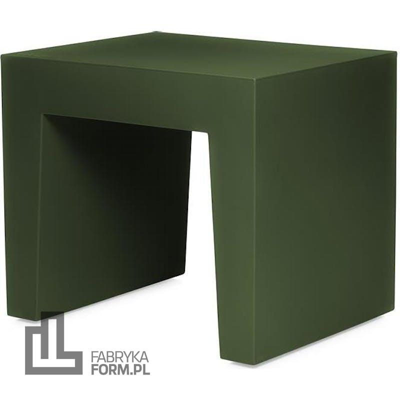 Stołek Concrete Seat zielony z recyklingu