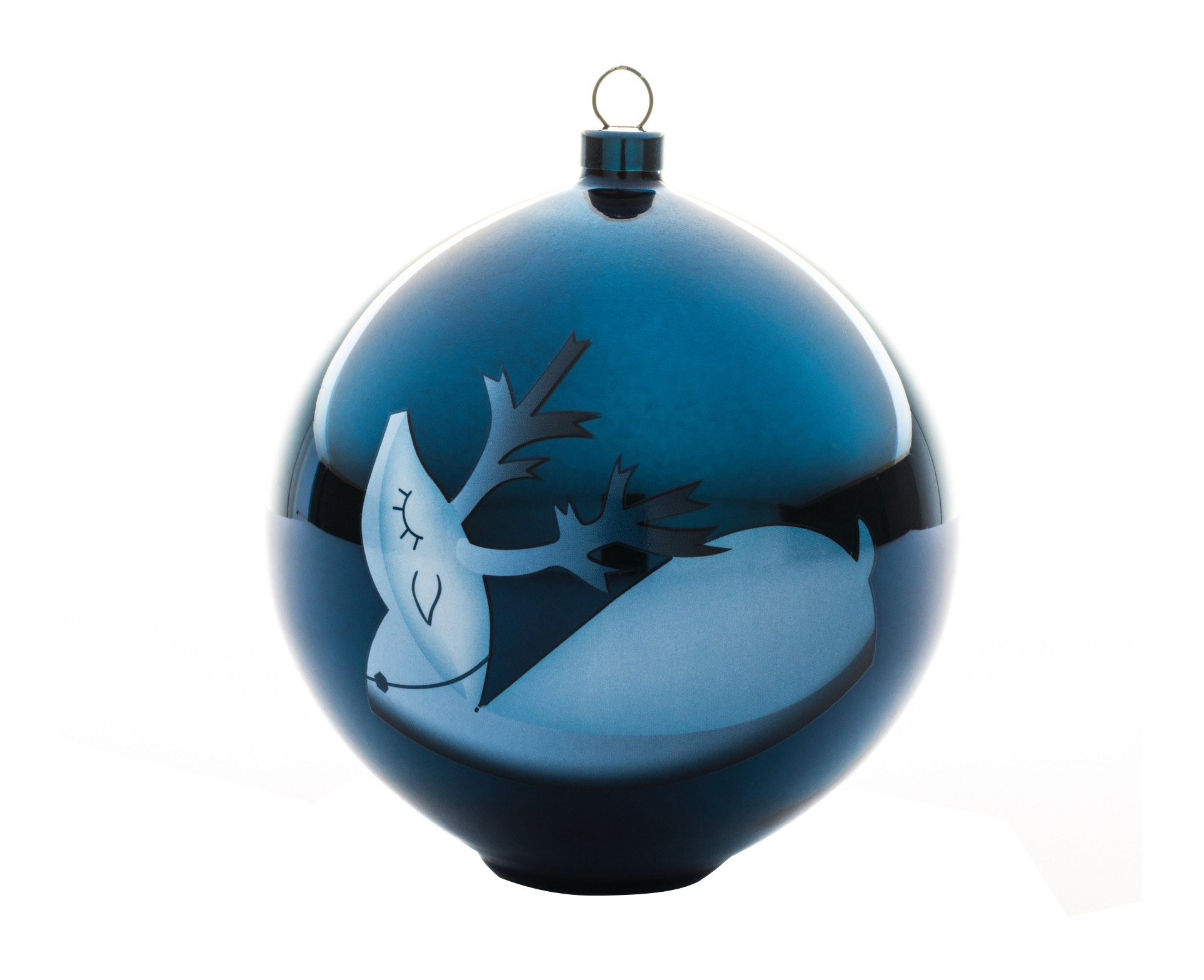 Bombka Blue Christmas renifer - 57847