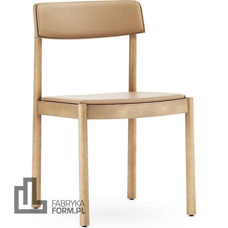 Krzesło Timb naturalne tapicerowane