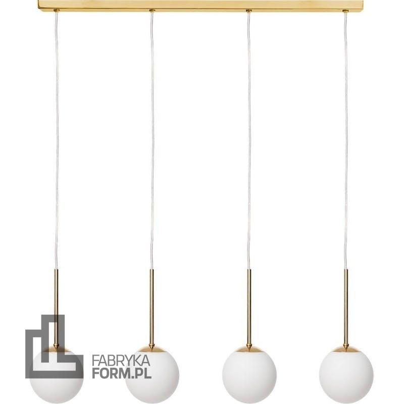 Lampa wisząca Lamia 4 złota z transparentnym przewodem