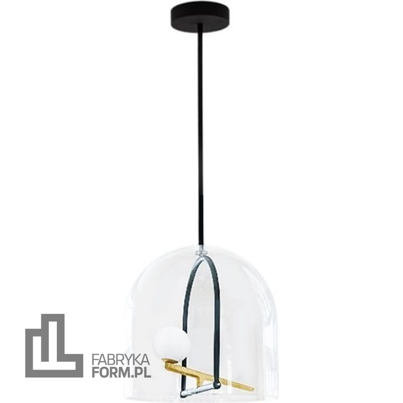 Lampa wisząca Yanzi ze szklanym kloszem
