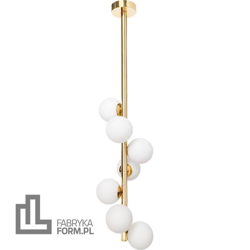 Lampa wisząca Cumulus Vertical 112 cm złota