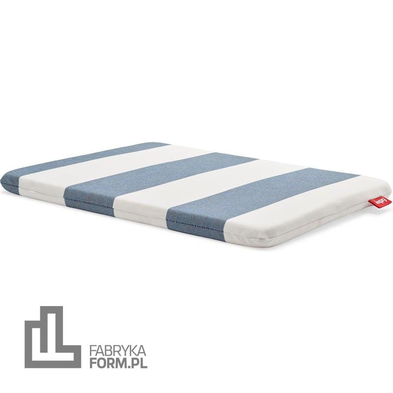 Poduszka do stołka Concrete w paski niebiesko-biała