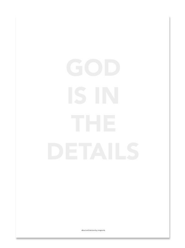 Plakat God is in the details - 37827