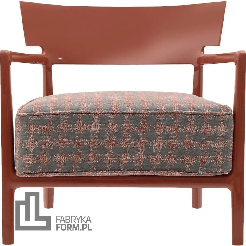 Fotel Cara wzorzysty ceglasty