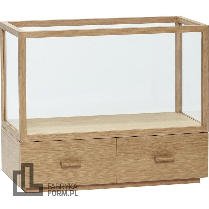 Witryna Hübsch z drewna dębowego z szufladami