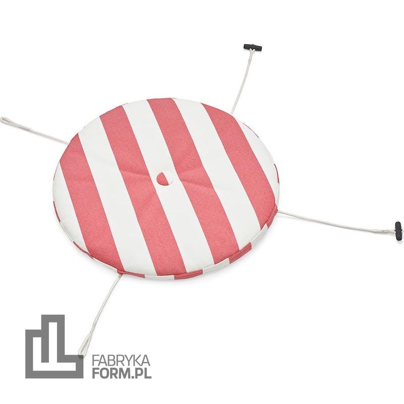 Poduszka na krzesło Toni w paski czerwono-biała
