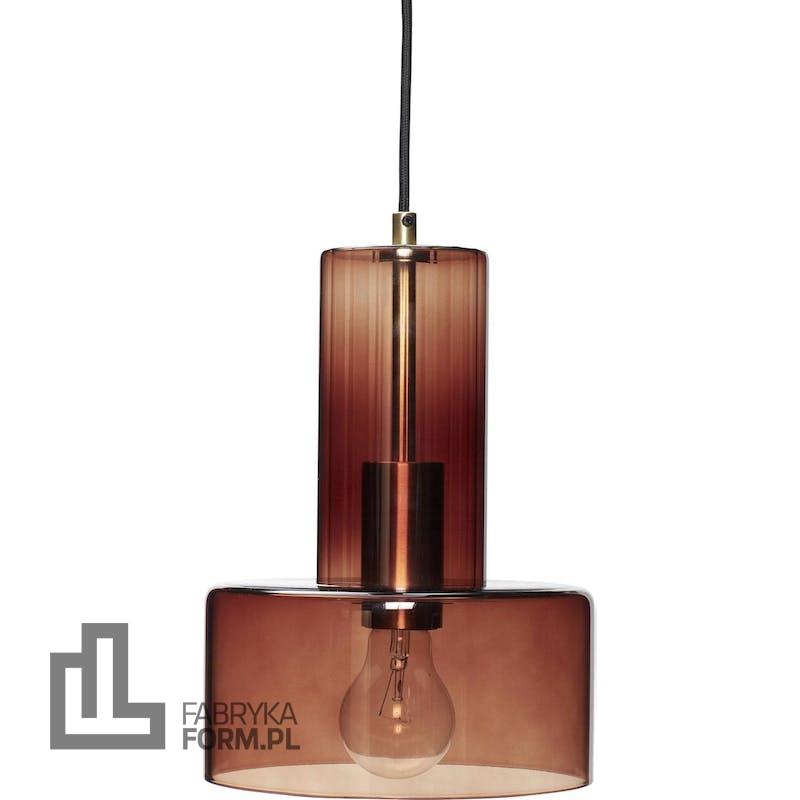 Lampa wisząca Hübsch 27 cm brązowa szklana