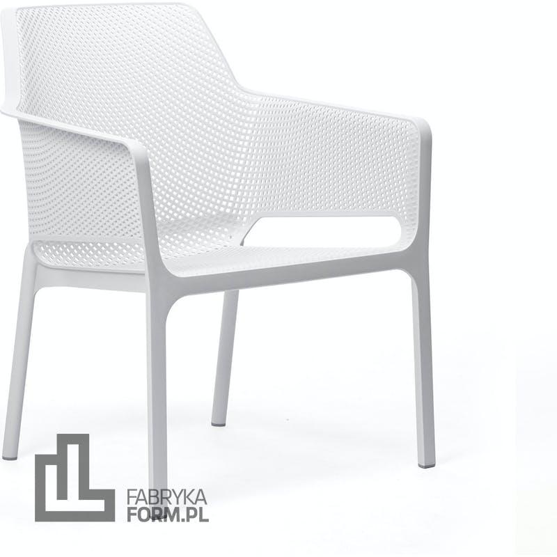 Krzesło ogrodowe Net Relax białe