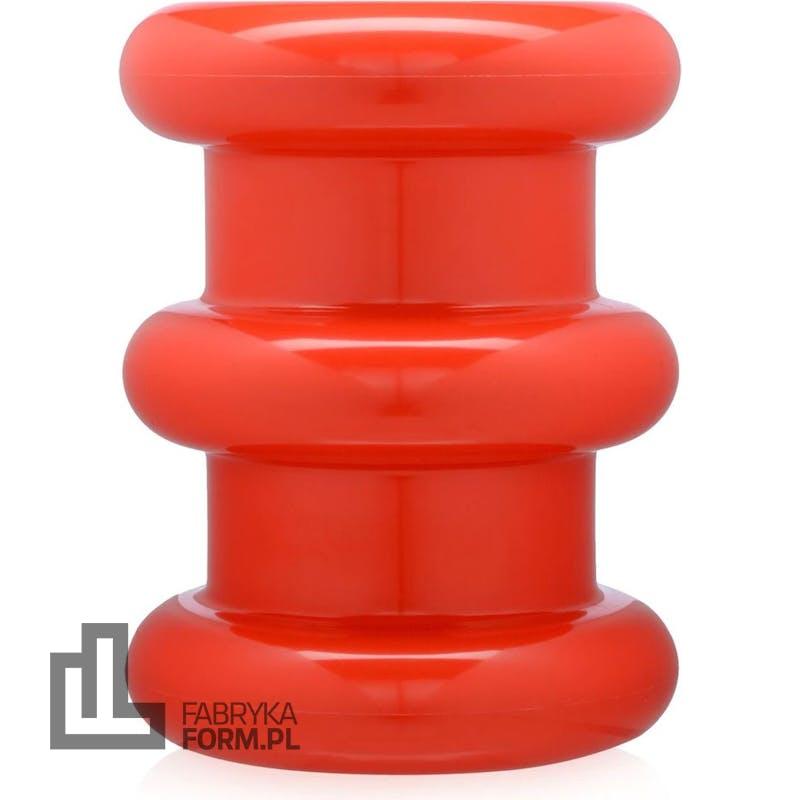 Stołek Pilastro czerwony
