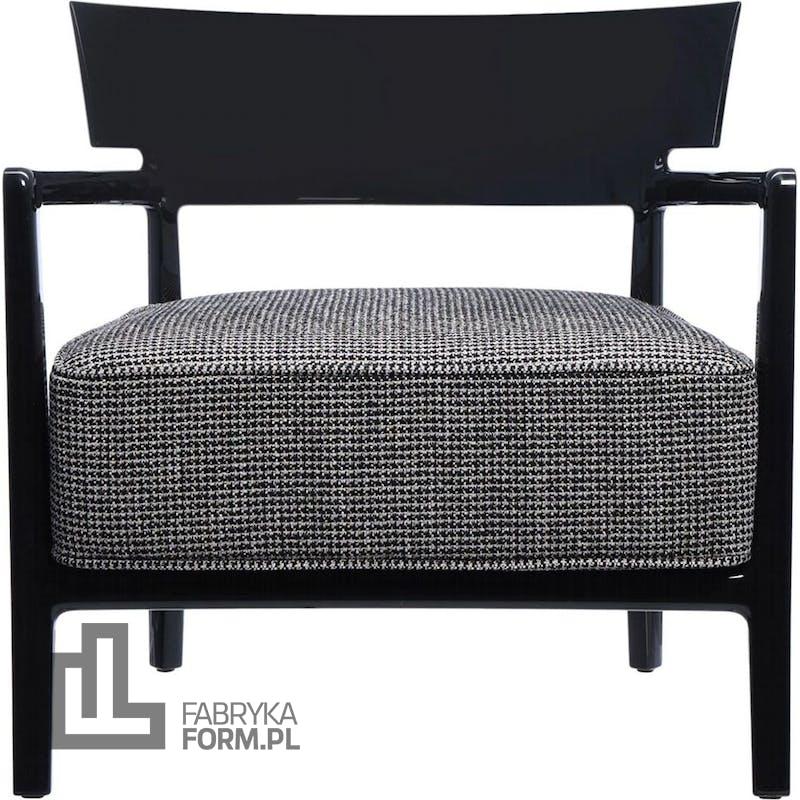 Fotel Cara wzorzysty czarny
