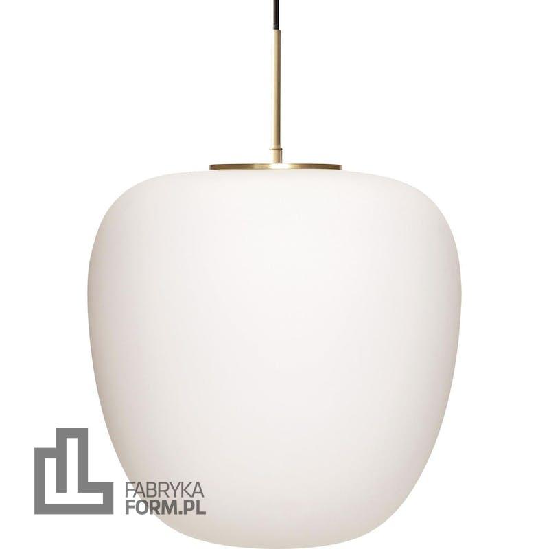 Lampa wisząca Hübsch 40 cm mosiężna podstawa