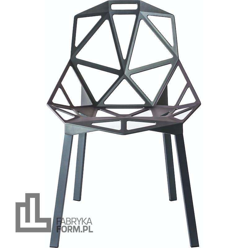 Krzesło Chair_One szarozielone