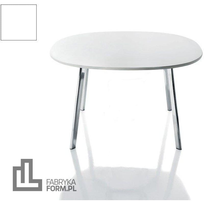 Stolik okrągły Deja-vu 124 cm biały