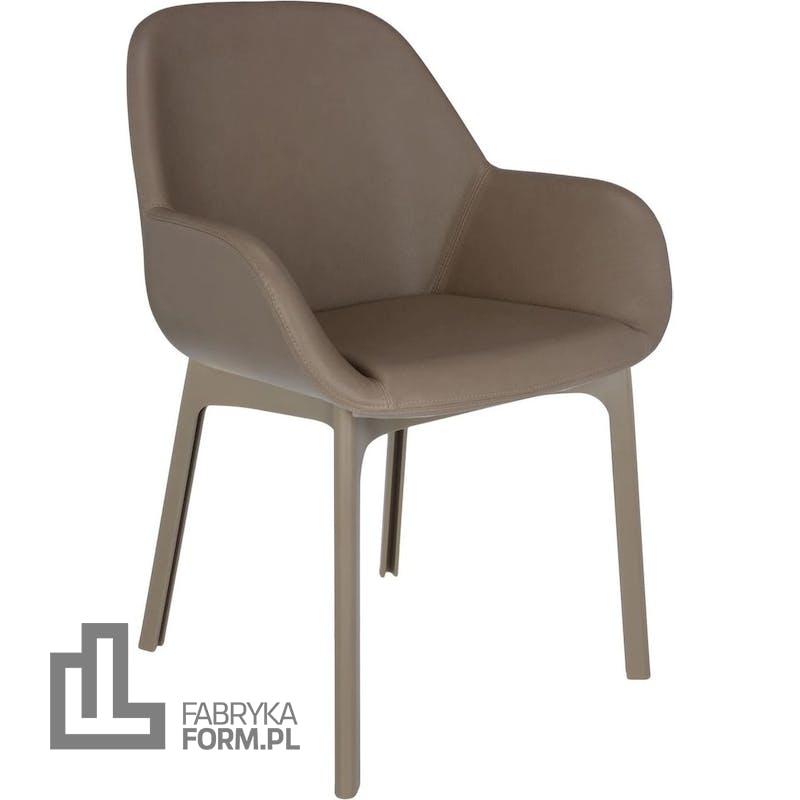 Krzesło Clap Eco Leather taupe z taupe ramą