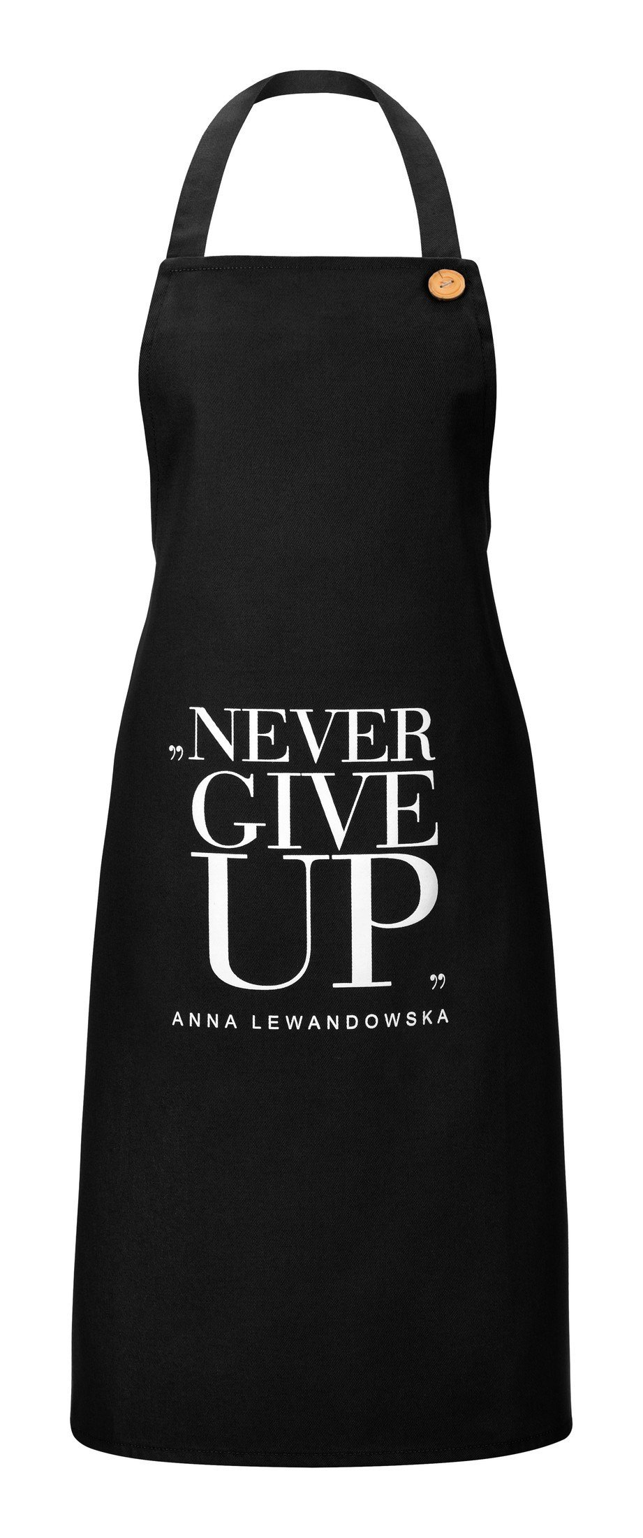 Fartuch kuchenny Anna Lewandowska Never Give Up czarny - 54984