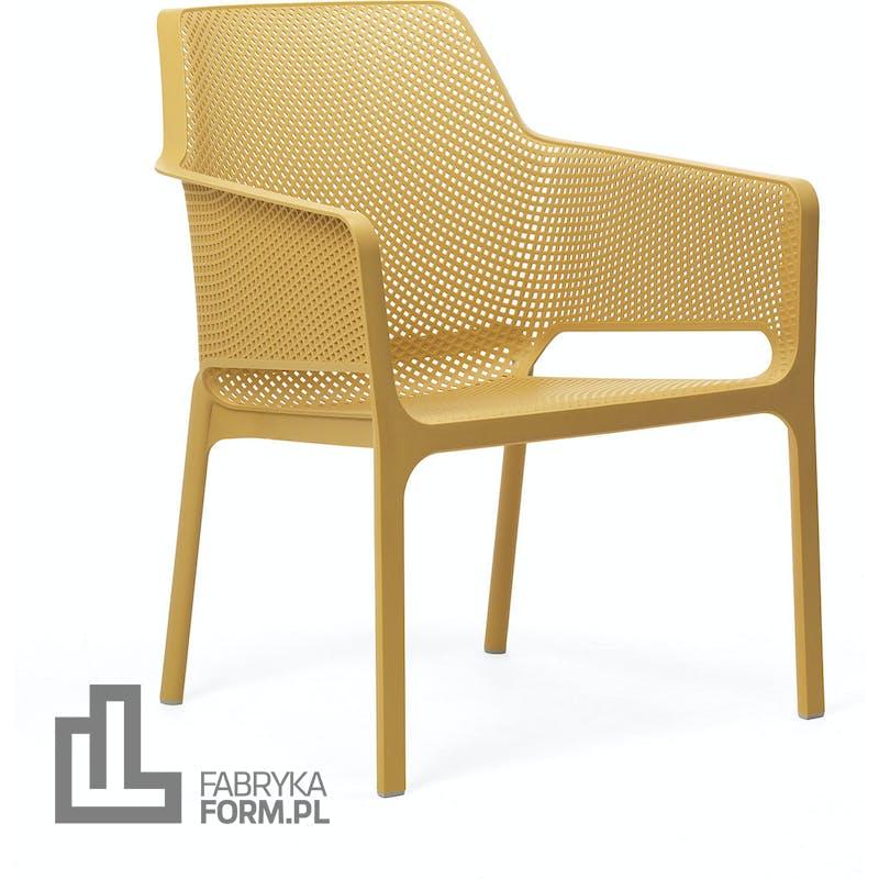 Krzesło ogrodowe Net Relax musztardowe
