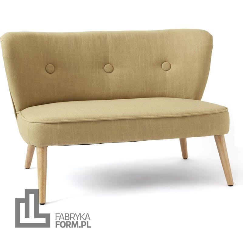 Sofa dla dzieci Kids Concept żółta na drewnianych nogach