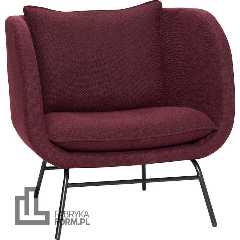Fotel Hübsch bordowy