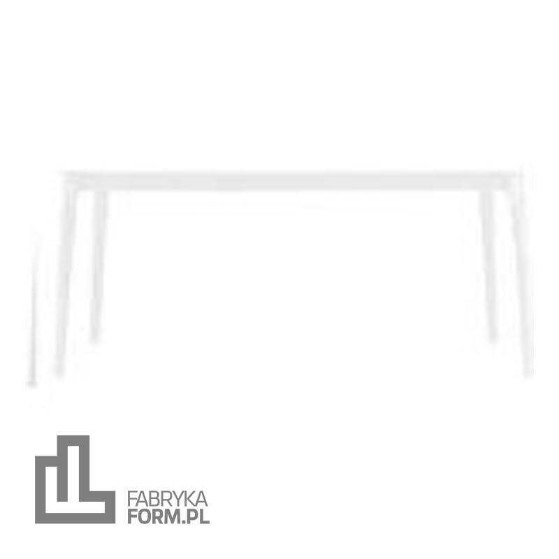 Stół Steelwood prostokątny rama biała blat biały
