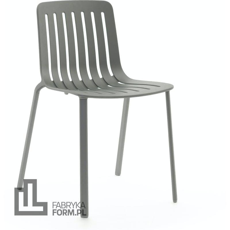 Krzesło Plato szare metalizowane