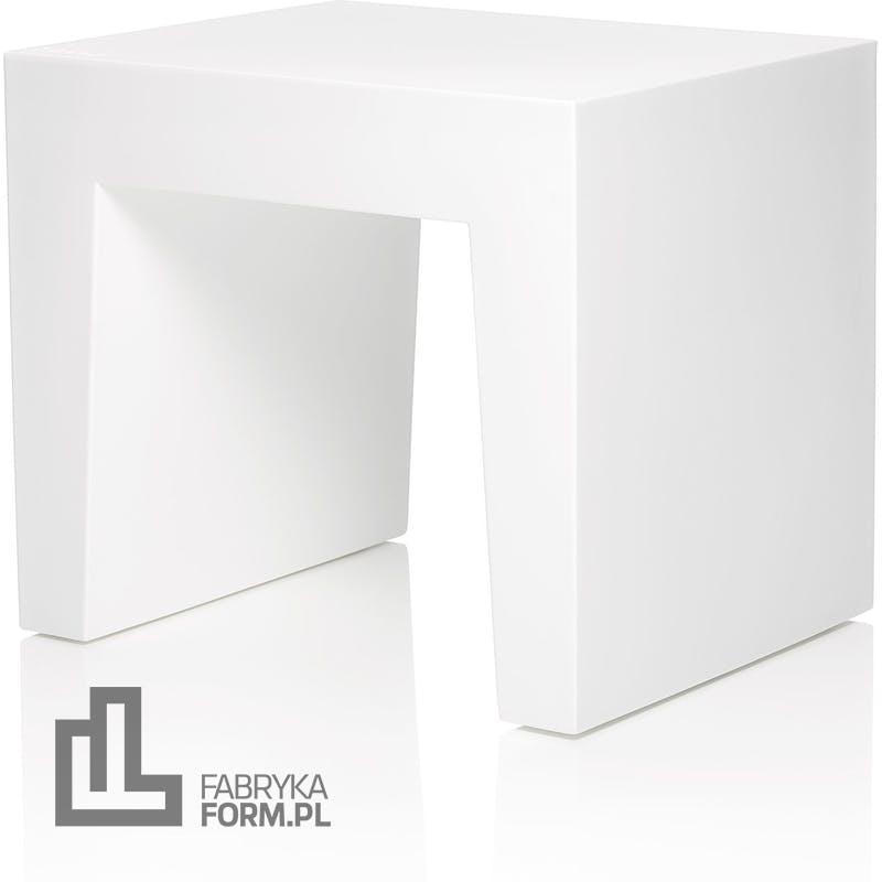Stołek Concrete Seat biały