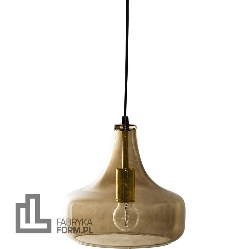 Lampa wisząca Bloomingville 23 cm brązowa szklana