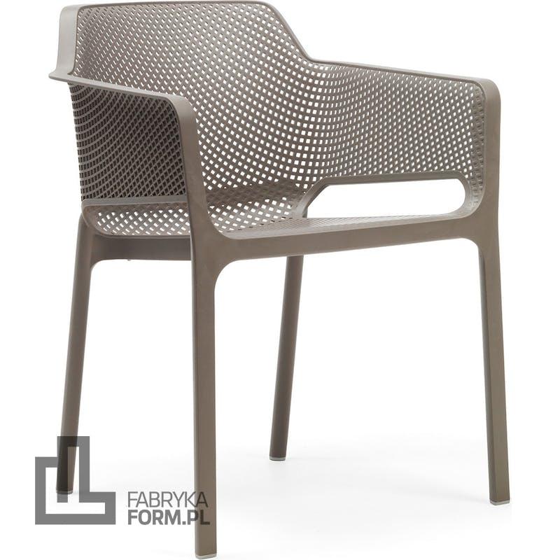 Krzesło ogrodowe Net taupe
