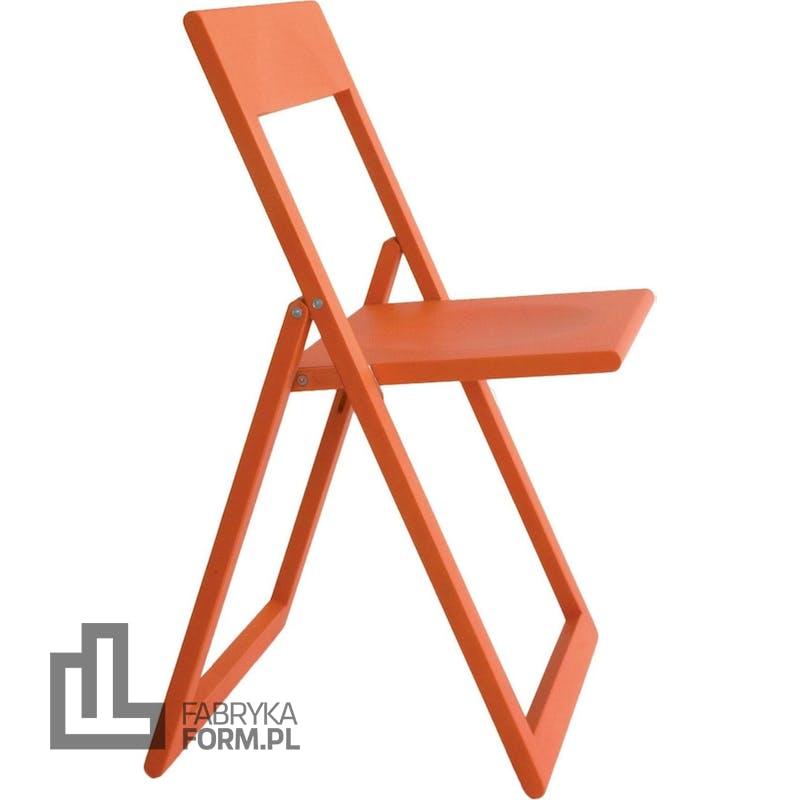 Krzesło składane Aviva koralowe
