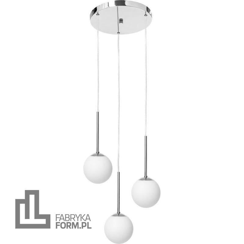 Lampa wisząca Lamia 3 chrom z transparentnym przewodem